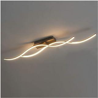 KOSILUM - Plafonnier LED ondulé 2 bras - Swash - EN SOLDES ! - Lumière Blanc Chaud Eclairage Salon Chambre Cuisine Couloir...