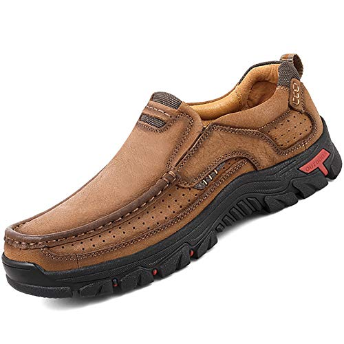 Yokest Shoes for Men Breathable Fashion Sneakers Men Genuine Leather Shoes
