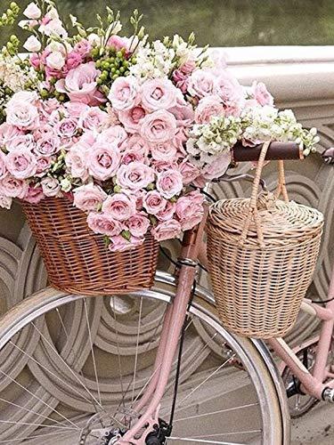 Cuadro de flores cuadro de diamantes bordado de diamantes Kit de punto de cruz mosaico de diamantes paisaje pegatina de bicicleta A2 30x40cm