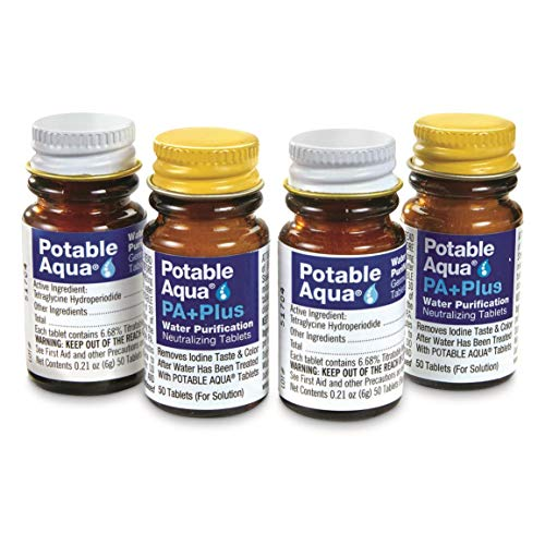 Our #4 Pick is the Potable Aqua Water Purification Tablets with PA+