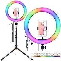 Staright RGB LED Selfie Yuvarlak Işık USB RingLight Telefon Klipsi ile Fotoğrafik Aydınlatma Telefon Fotoğrafçılığı...