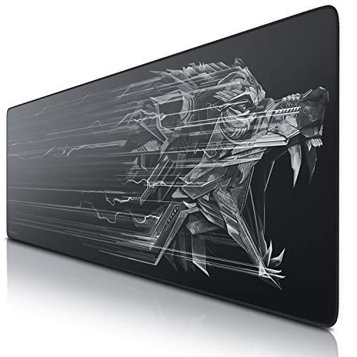 CSL – Alfombrilla de ratón para Gaming, Titanwolf, 1200 x 400 mm, tamaño Grande, Mejora la precisión y la Velocidad, XXL para ratón y Teclado Logitech