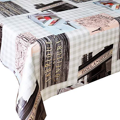 Mantel Hule Paris · Mantel Antimanchas Resistente y Muy FACIL DE Limpiar · Mantel Mesa Rectangular en PVC · Hules para Mesas · Múltiples Diseños y Económicos · Medidas ( 120 cm x 140 cm )