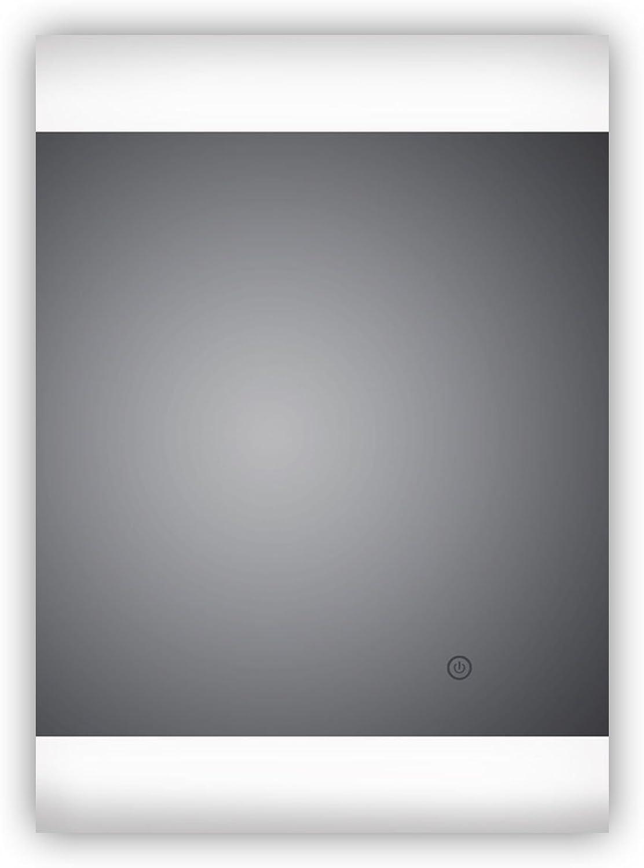 HOKO LED Badezimmerspiegel Montage Hoch- und Querformat mglich, Bamberg 50x70cm, Spiegel LED, Energieklasse A+ (WEEE-Reg. Nr.  DE 40647673)