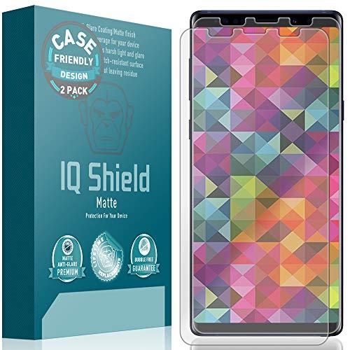 IQ Shield Matte Screen Protector Compatible with Samsung Galaxy Note 9 (Case Friendly)(2-Pack) Anti-Glare Anti-Bubble Film