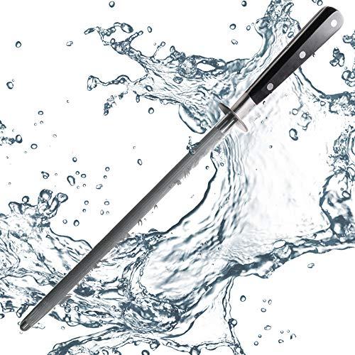 ProCook Gourmet X30 Wetzstahl - Wetzstab - Messerschärfer - Schleifstab - Kohlenstoff - 25 cm