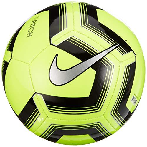 Nike Unisex-Adult Pitch Training Ball, Volt/Black/Silver, 5