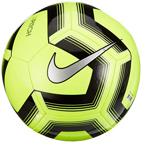 Nike Unisex's Pitch Training 19 Soccer Ball, Volt/Black/Silver, 4