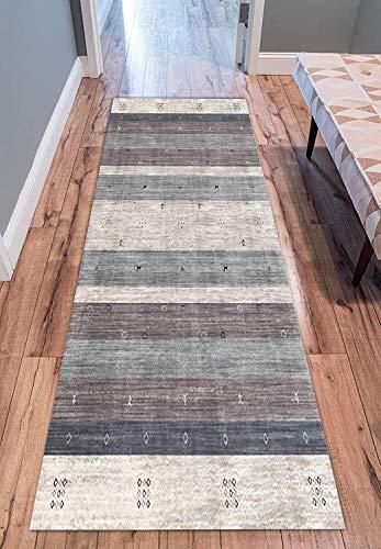 Alfombra para pasillo, pasillo largo 3D, antideslizante, resistente al desgaste, resistente a la humedad, 0,7 cm de grosor (color: A, tamaño: 100 x 700 cm)