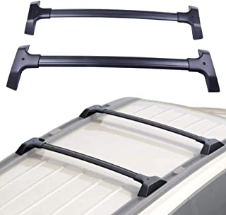 ECCPP Roof Rack Cross Bar Roof Rack Cross Bars Luggage Cargo Carrier Rails Fit for 2009-2017 Chevrolet Traverse Sport Utility 3.6L,Aluminum(Without C Channels)