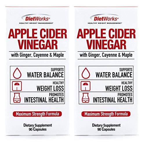 Dietworks Apple Cider Vinegar Capsules 500 Mg 90 Capsules