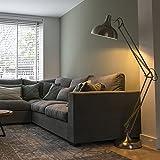 QAZQA Moderno Lámpara de pie HOBBY acero Metálica Redonda Adecuado para LED Max. 1 x 60 Watt