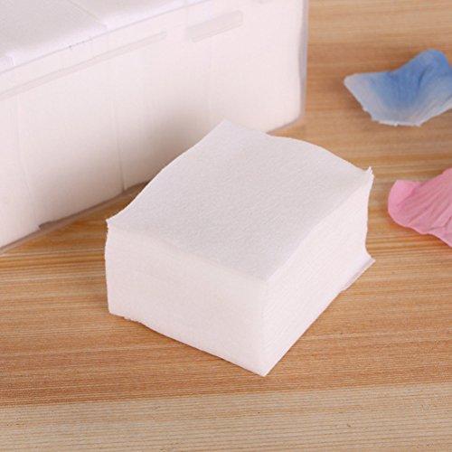 Frcolor 1000pcs algodón almohadillas absorbente delgado soplos Plaza de algodón para quitar maquillaje Facial y uñas Polis