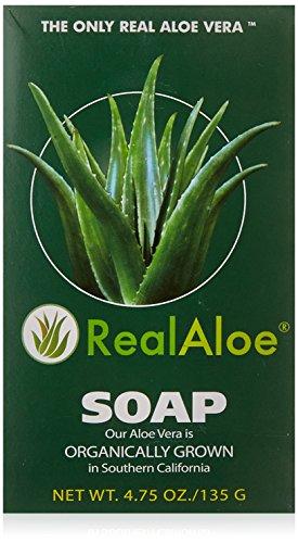 Real Aloe Organically Grown Aloe Vera Skin Bar Soap, 4.75 Oz