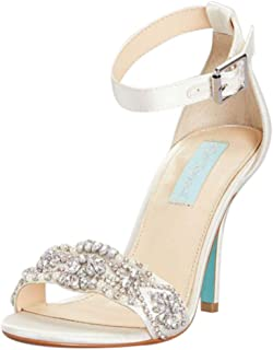 Embellished High Heel Sandals with Ankle Strap Style SBJUNO