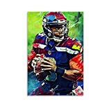 QWSDE NFL Seattle Seahawks Russell Wilson Sports Poster 5