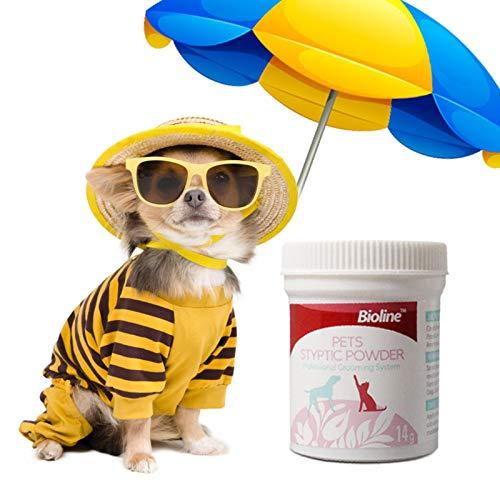 Seatechlogy Styptic Powder para Mascotas Perros y Gatos Antiinflamación Polvo de Analgesia antibacteriana Suministros médicos para Mascotas - Remedy+Recuperación