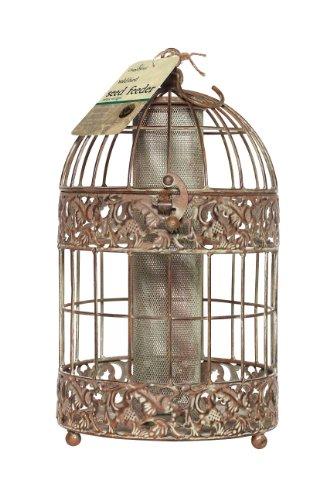 Chapelwood CPW0271 - Alimentatore di sementi Uccello, Fino a 0,6 kg, Disegno Antico con Patina