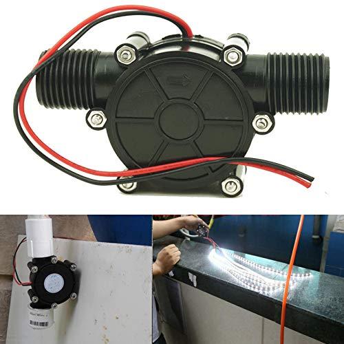 AUXPhome Turbina de agua de CC, 5V 12V 80V DC 10W Micro-Hydro...