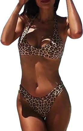 741e2cc22a08f AMUSTER Damen Sexy Bikini Set Bademode Badeanzüge Bikinis für Frauen Mädchen  Bandeau Push Up mit Bügel
