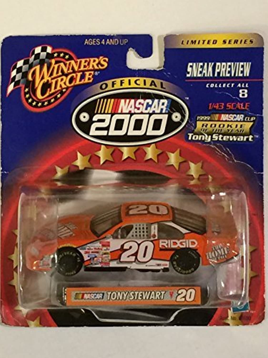 Winner's Circle - NASCAR 2000 - Sneak Preview Limited Series - Tony Stewart Home Depot - Pontiac Grand Prix  20 (orange) - 1999 NASCAR Cup Rookie of the Year - 1 43 Scale Replica