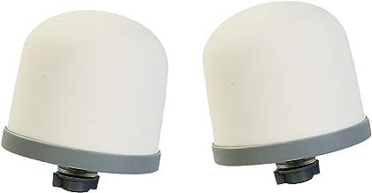 Huining Lot de 2 filtres de rechange en forme de dôme en céramique pour système de filtration d'eau domestique