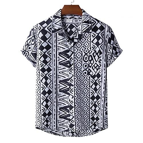 SSBZYES Mens Shirt Short-Sleeved Summer Shirt Mens Plus Size Shirt Hawaiian Beach Summer Suit Collar Short-Sleeved Printed Shirt