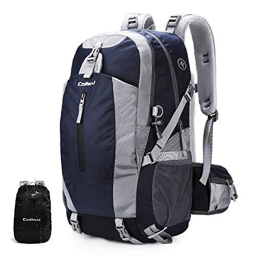 Colisal Wanderrucksack Herren 40L Trekking Rucksack Damen Tagestour Rucksack mit Regenschutz Camping Rucksäcke für Wandern Outdoor und Reisen Blau
