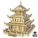 AHWZ 3D Puzzle DIY Madera Rompecabezas Madera artesanía China Edificio 125pc