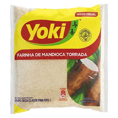 Yoki - Harina de Mandioca Tostada - Ideal para Preparar Farofa - Producto Brasilero - 500 Gramos