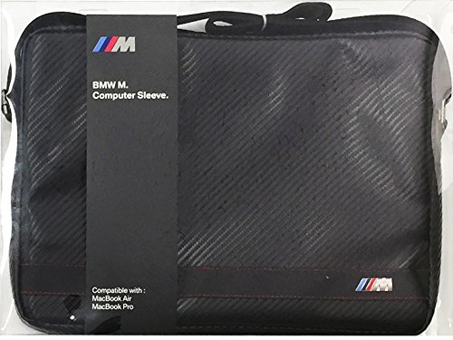 BMW M Collection Stripes Universal Sleeve for 13-Inch Computer - Carbon Black