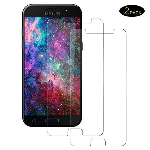 POOPHUNS 2 Stück Samsung Galaxy A5 2017 Panzerglas Schutzfolie, 9H Härte,Anti-Kratzen 0.3mm Anti-Fingerprint HD Displayschutzfolie für Samsung Galaxy A5 2017