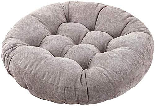 Cojines de suelo para silla redonda gris cojín de asiento al aire libre para sentarse, meditación, yoga, sala de estar, sofá, balcón de 50 x 50 cm
