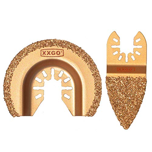 XXGO 4 Pcs Oscillating Multi Tool Diamond Blades for Grit Grout Removal XG4001C