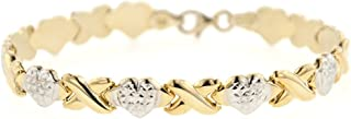 Sterling Silver XOXO Friendship and Relationship Bracelet, Necklace OR Set of Both