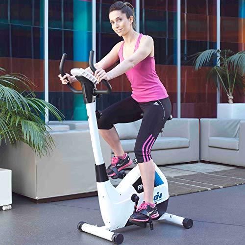 Ion Fitness FI100 Spin Bicycle - Bicicletas estáticas (Spin Bicycle, 120 kg, Sensores de Tacto en pasamanos, Vertical/Horizontal, 500 mm, 920 mm)