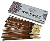 raajsee Incense Sticks White Sage 100 gm Pack-100% Pure Organic Natural Hand Rolled Free from...