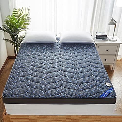 LEERAIN Colchón de látex, Espuma de Memoria, colchón de Roll-up Plegable de Tatami, espesante colchón de Tatami sin Deslizamiento Plegable