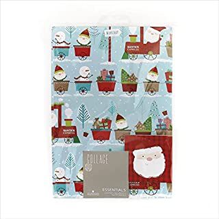 Christmas Wrapping Paper Pack Wrap Set 2 X Sheets Gift Wrap & 2 X Tags