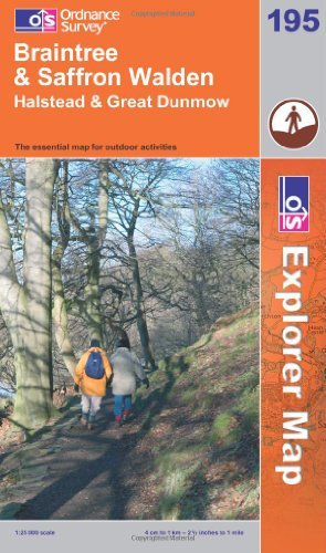 OS Explorer map 195 : Braintree & Saffron Walden