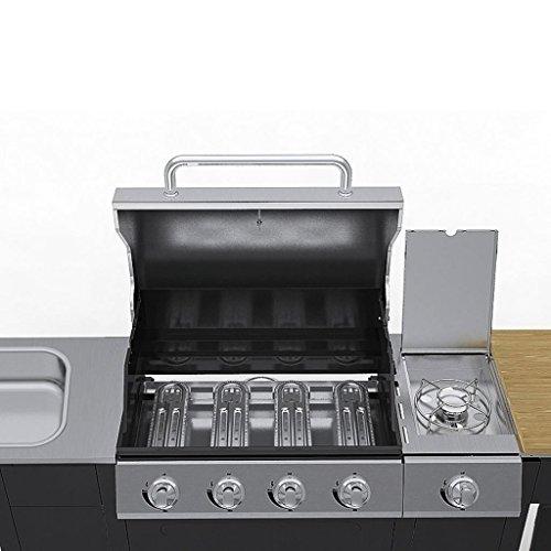 vidaXL Edelstahl Gasgrill Grill Grillwagen BBQ - 3