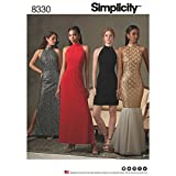 Simplicity US8330P5 Women's Open Back, Mermaid Style, and Little Black Dress Sewing Patterns, Sizes 12-20