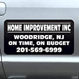 Vehicle Magnets sign With Custom Lettering 12' X 24' (Set of 2) -Landscape, Construction, Handy man, Plumbing, car repair shop-Black