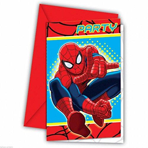 amscan Einladungskarten Der ultimative Spiderman 6er Pack