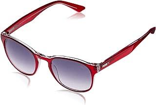 Puma Men's PU0151S PU0151S-005 51 Wayfarer Sunglasses, Red, 51 mm
