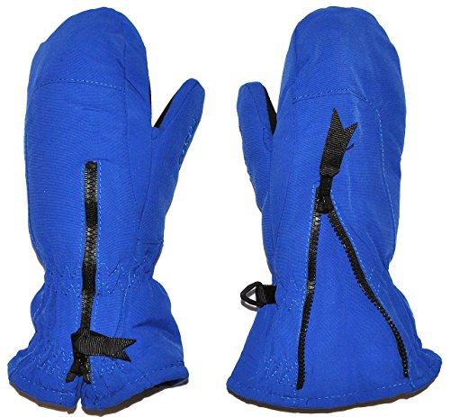 Kinder-land alles-meine.de GmbH Fausthandschuhe - kräftiges blau - mit langem Schaft - Größe: 1 bis 2 Jahre - Reißverschluß - leicht anzuziehen - Thermo gefüttert Thermohandschuh - Faust..