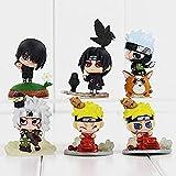 Q versión Naruto Juguetes 6 unids/Set Naruto Uchiha Sasuke Hatake Kakashi Uchiha Itachi PVC Figura Juguetes DG601