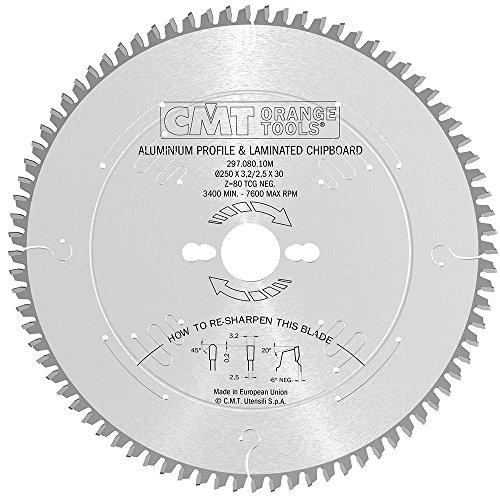 CMT Orange Tools 297.080.10M - Sierra circular 250x3.2x30 z 80 tcg -6 grados silenciosa