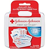 Johnson & Johnson First Aid To Go Kit (Pack of 12 Items)