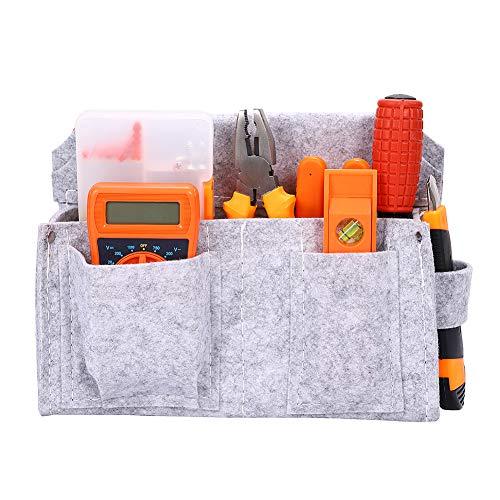 4 zakken timmerman vilt gereedschap riem, snelle release werk riem, gereedschap houder werk organisator voor bouwer, DIYer, gereedschap taille riem (grijs)